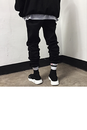 20%sale marag-black basic jogger(slim fit.)
